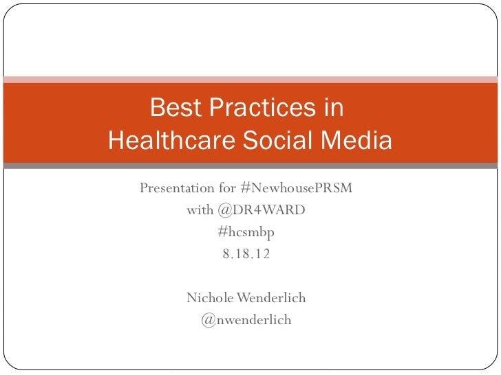 Best practices in HCSM