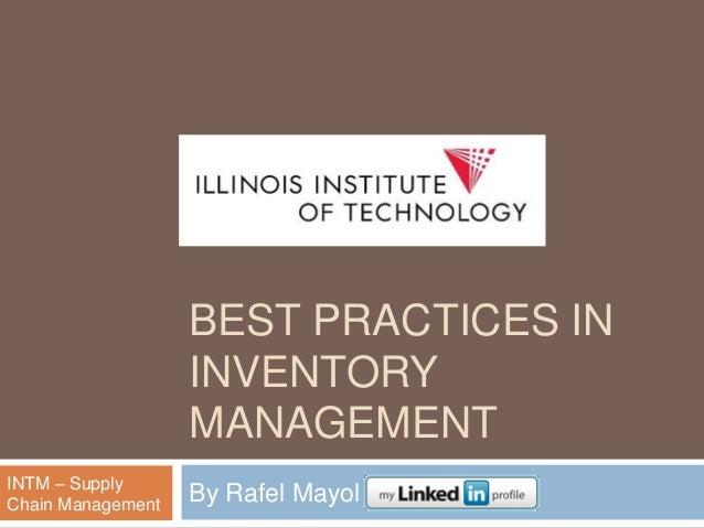 6 Inventory Management Best Practices