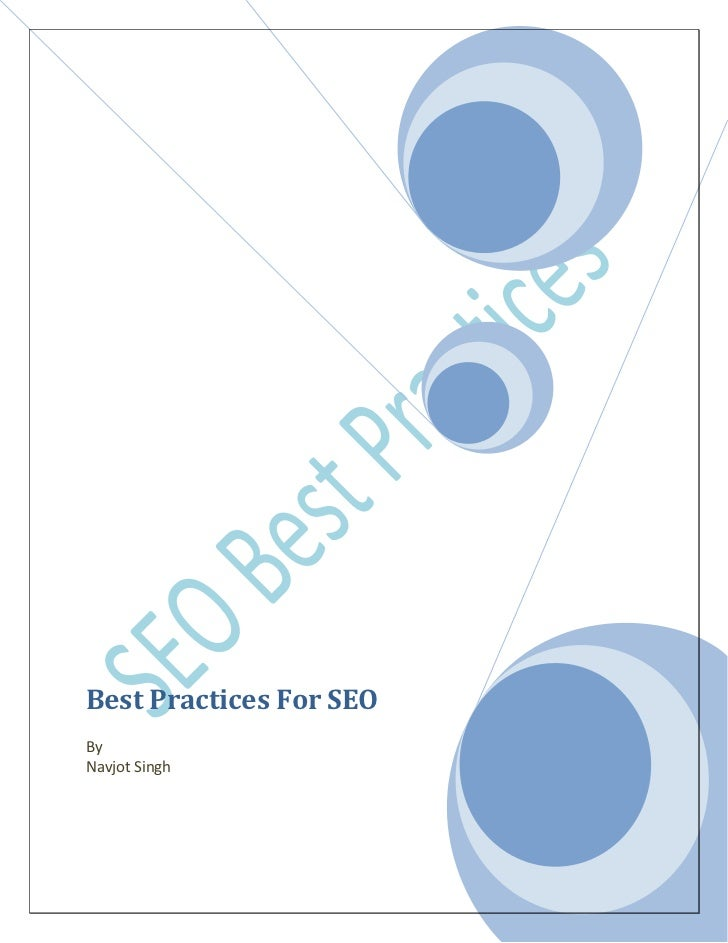 Best practices in Search Engine Optimization (SEO)
