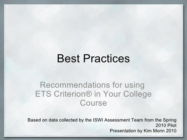 Best practices iswi_2010-