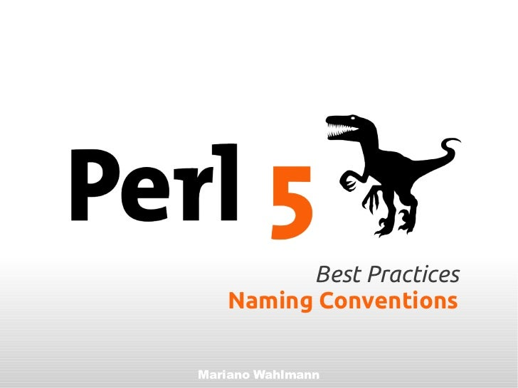 Best practices naming conventions