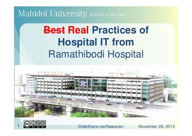 Best Practices of Hospital IT from Ramathibodi Hospital