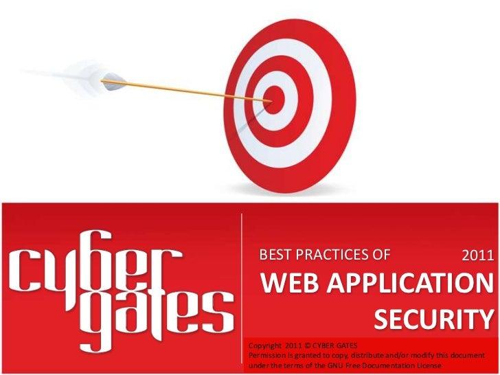 BEST PRACTICES OF WEB APPLICATION SECURITY By SAMVEL GEVORGYAN
