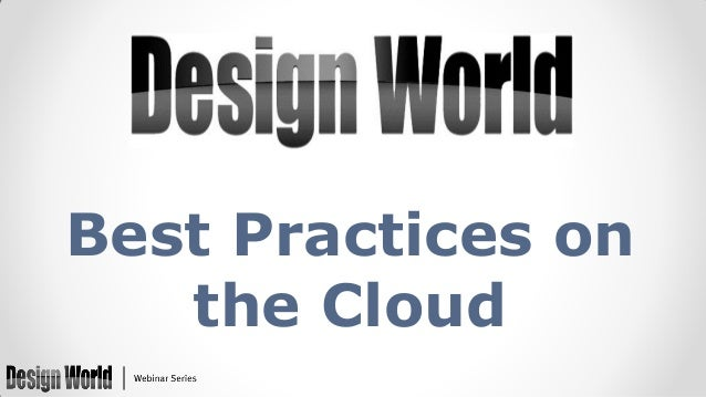 Best Practices on the Cloud