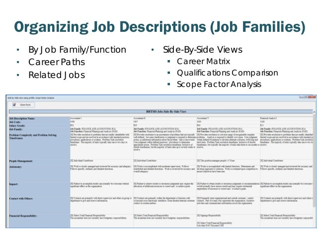how to create job families