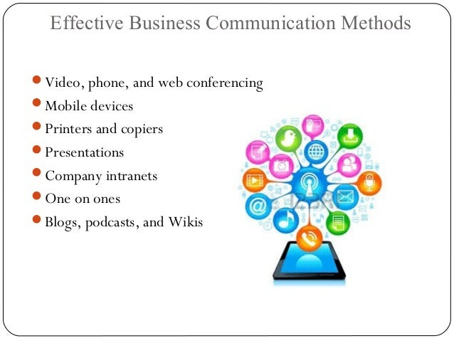 Business Communication Methods Communication Methods