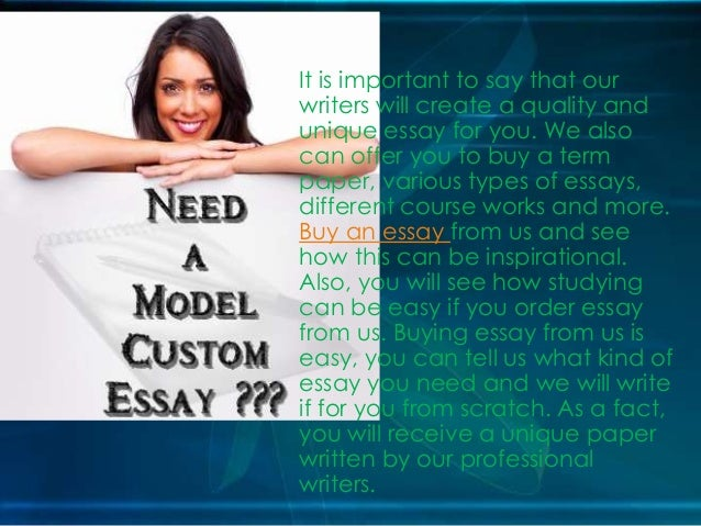 Custom essay to buy online