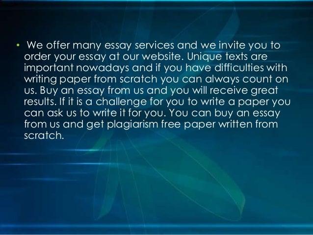 Quality custom essay writing service