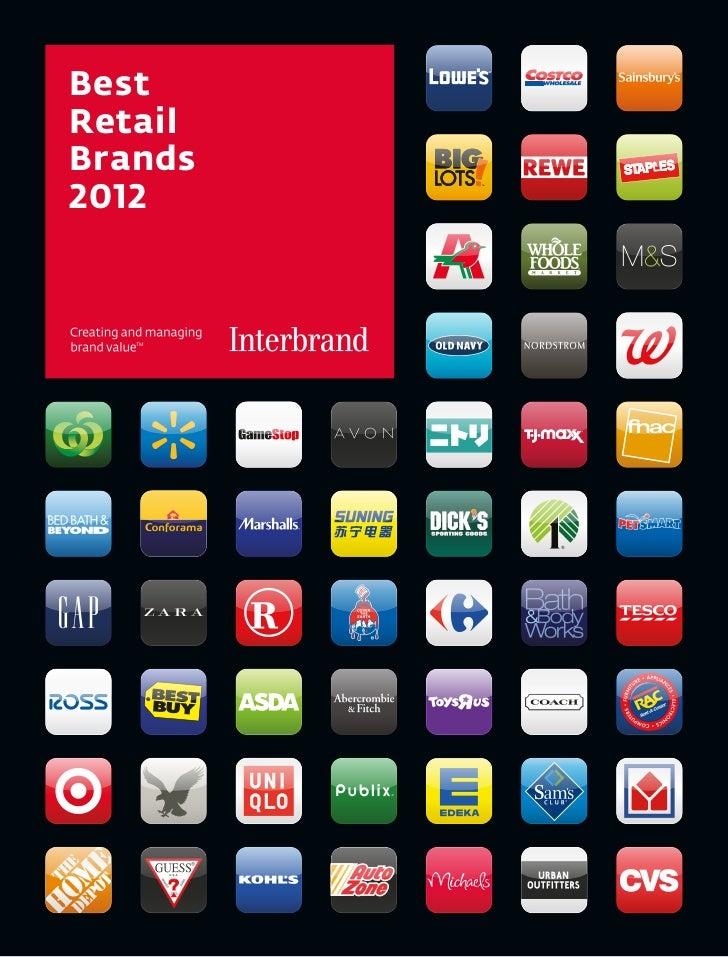 Best retail brands 20121