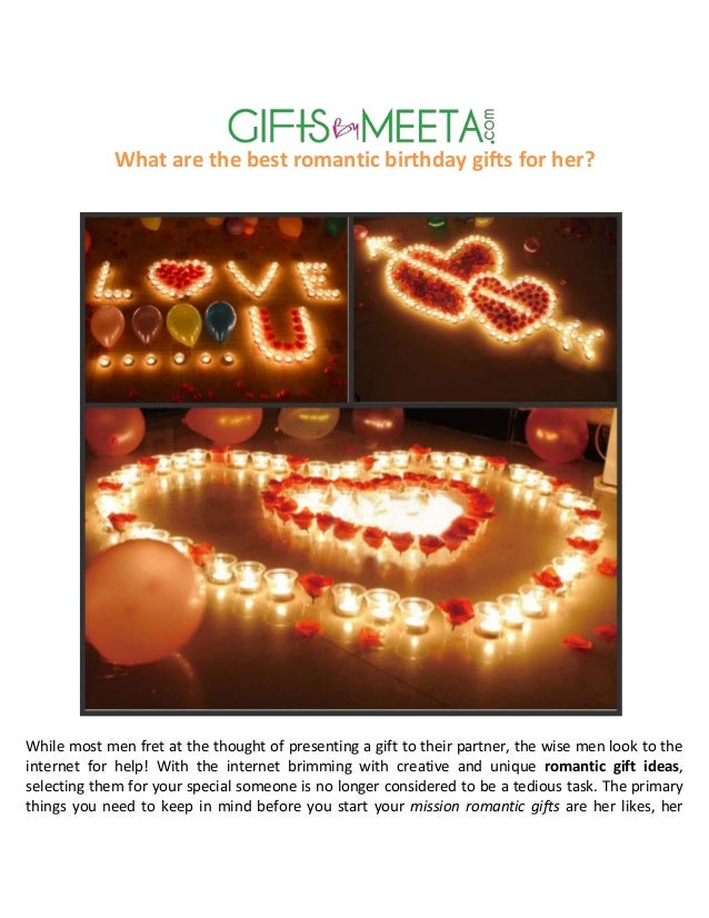 Best romantic birthday gifts for her myideasbedroom