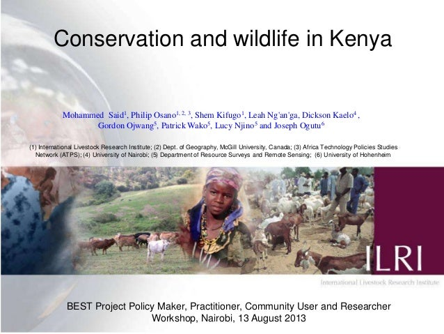 Conservation and wildlife in Kenya