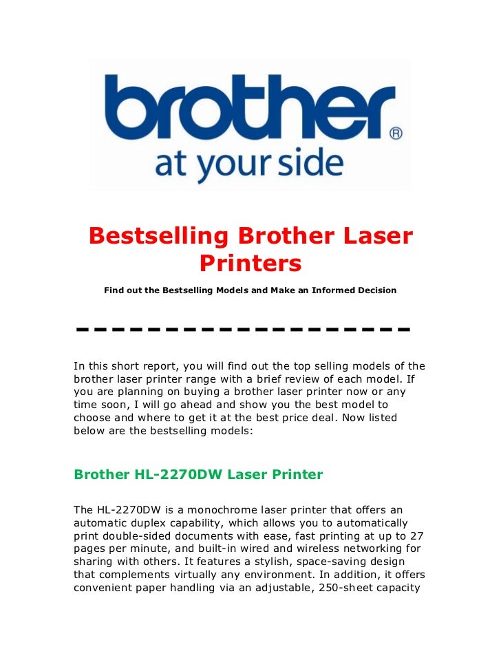 Brother Laser Printers: Now Find Out the Most Notable Selling Models and Make an Informed Decision