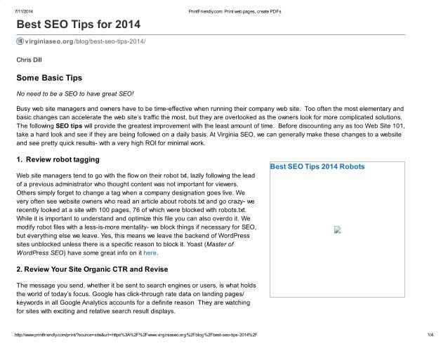 Best seo tips for 2014