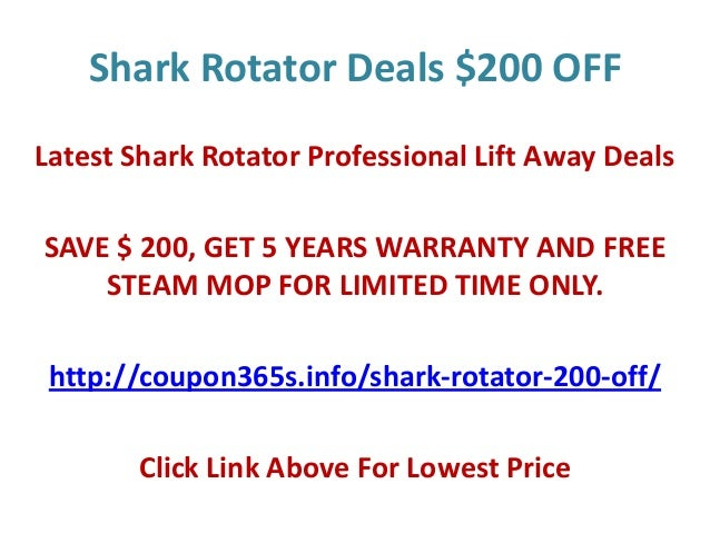 Shark robot discount coupon