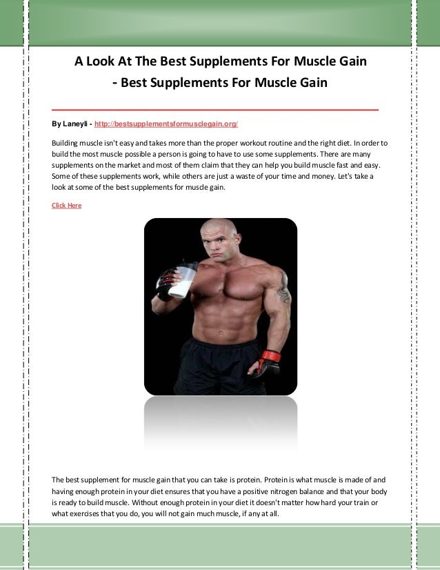 Best Muscle Supplements - Help Your Workout