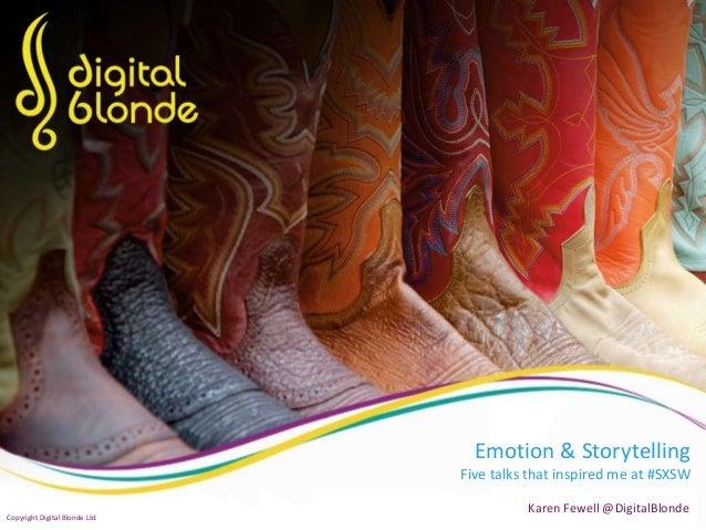 Emotion & Storytelling - 5 Inspirational Talks at #SXSW