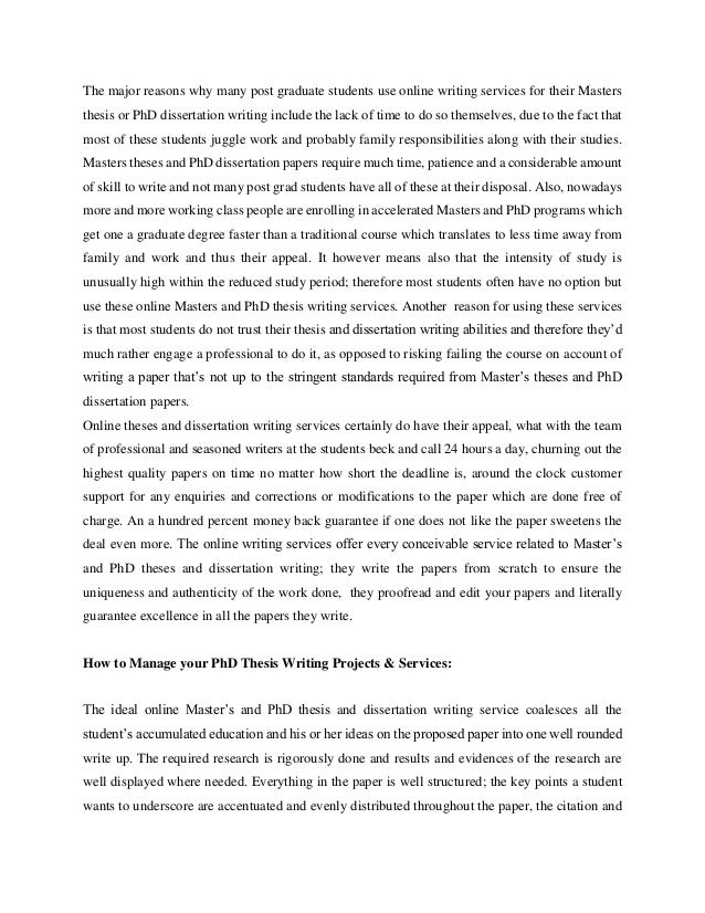 Thesis writing service uk online