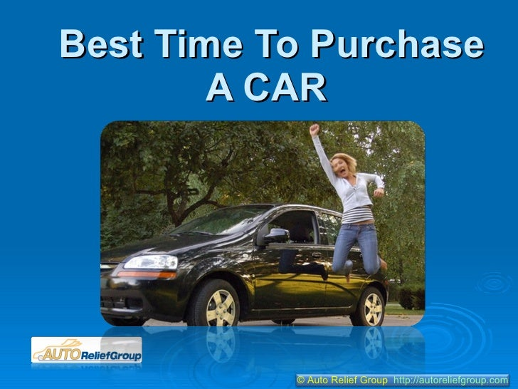 Best time to purchase a car