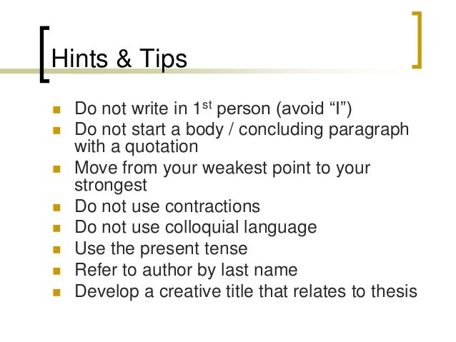 Tips About Writing An Essay?