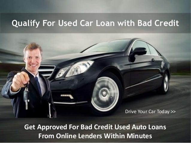 Used car loan rates poor credit 12