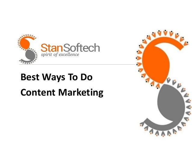 Best Ways To Do Content Marketing