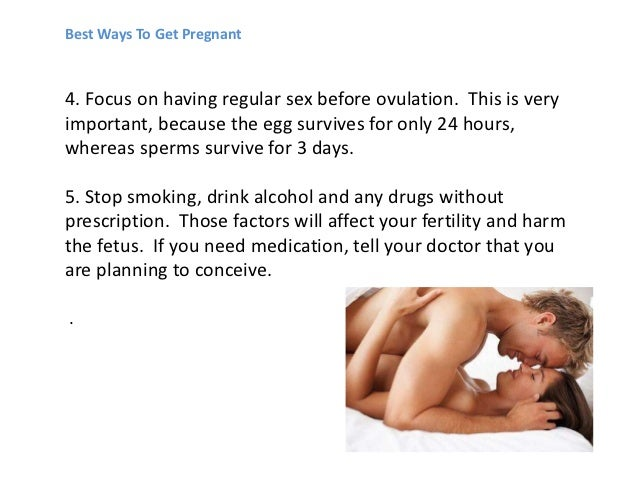 best days to have sex to get pregnant