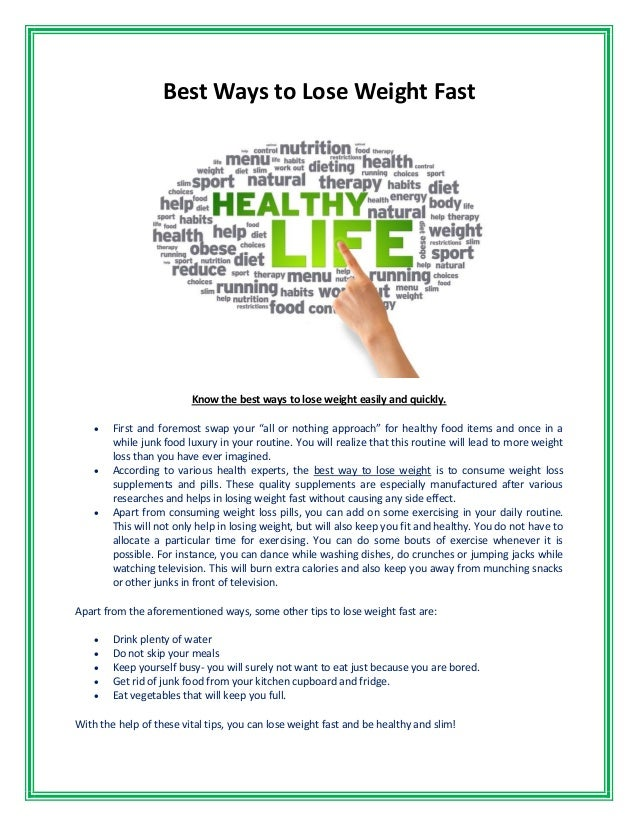 Ways to lose weight fast not healthy lyrics