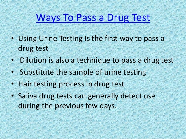 Natural Ways To Pass A Hair Drug Test