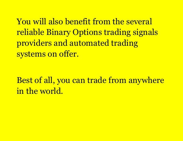 Binary options trading with the trend