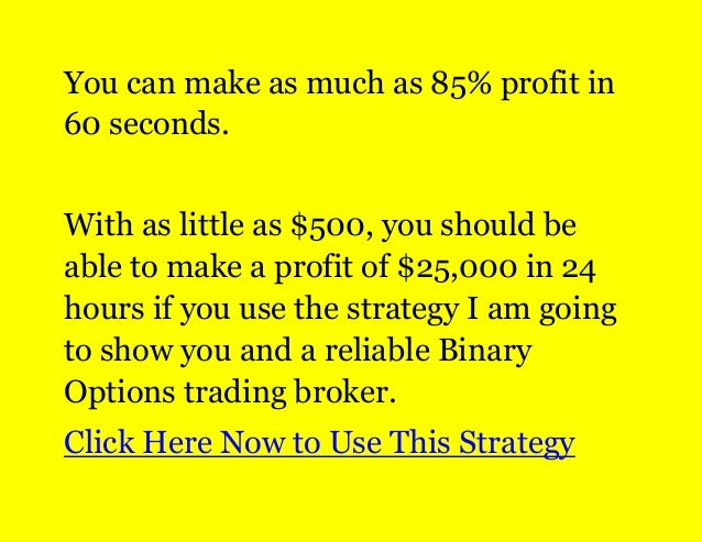 Learn how to make money with binary options