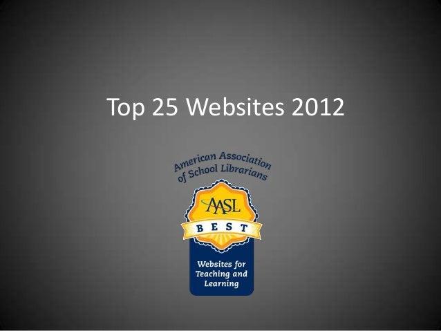Top 25 Websites 2012