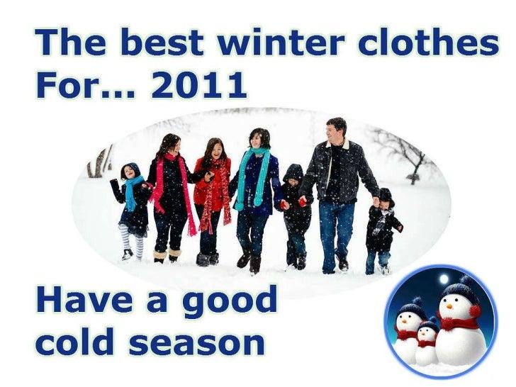 Best winter clothes 2011