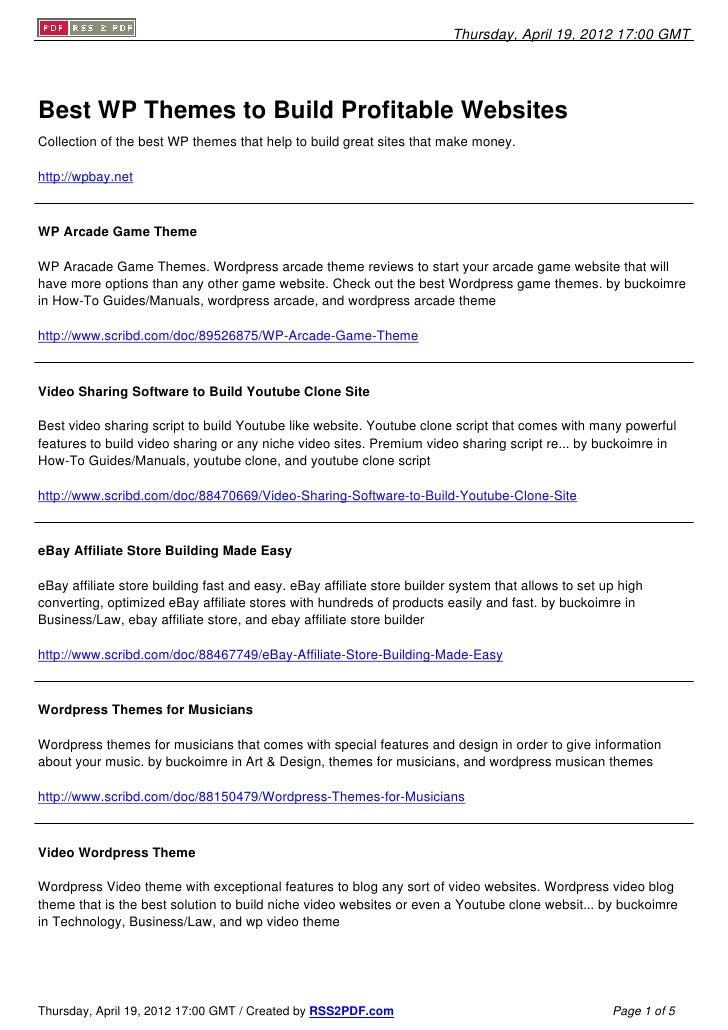 Best Wordpress Themes To Build Profitable Websites