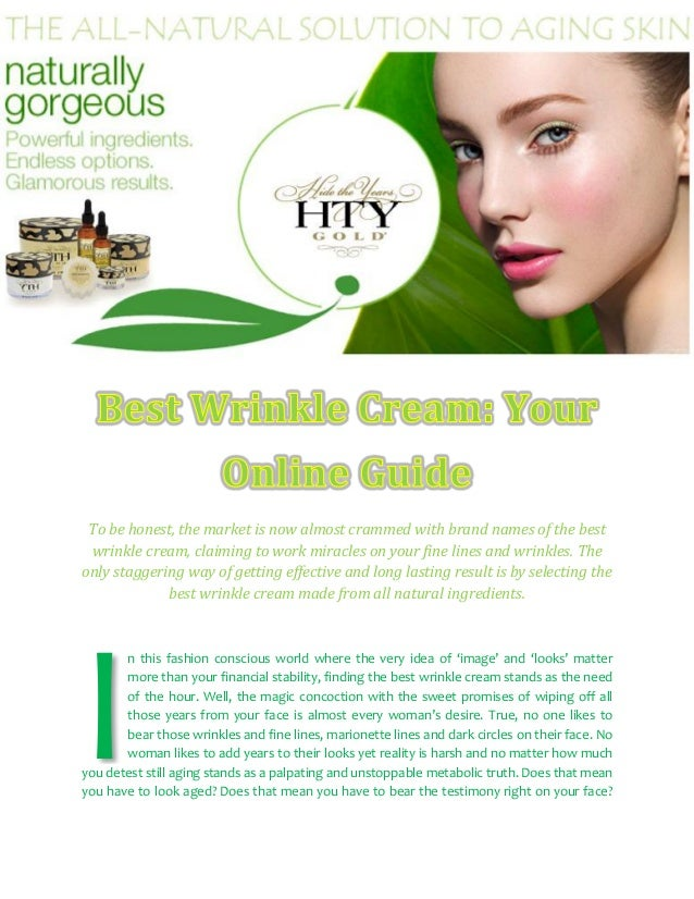 Best Wrinkle Cream: Your Online Guide