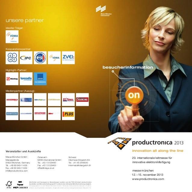 Ideeller Träger: besucherinformation 20. internationale leitmesse für innovative elektronikfertigung messe münchen 12.–15....