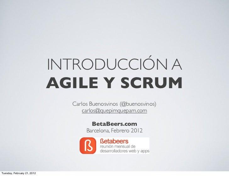 Introducción a Agile y Scrum (BetaBeers.com)