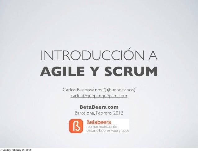 Introducción a Agile y Scrum