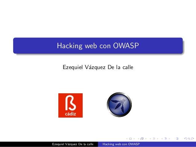 Hacking web con OWASP