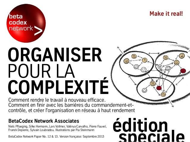 Organiser pour la Complexité - édition spéciale