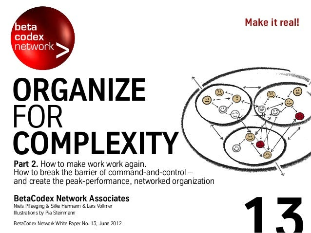 Organize for Complexity, part II (BetaCodex13)
