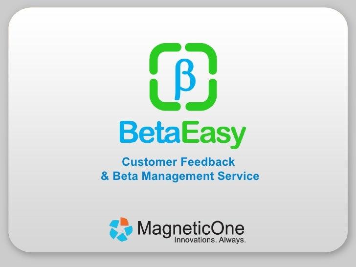etaEasy - Customer Feedback and Beta Management Service