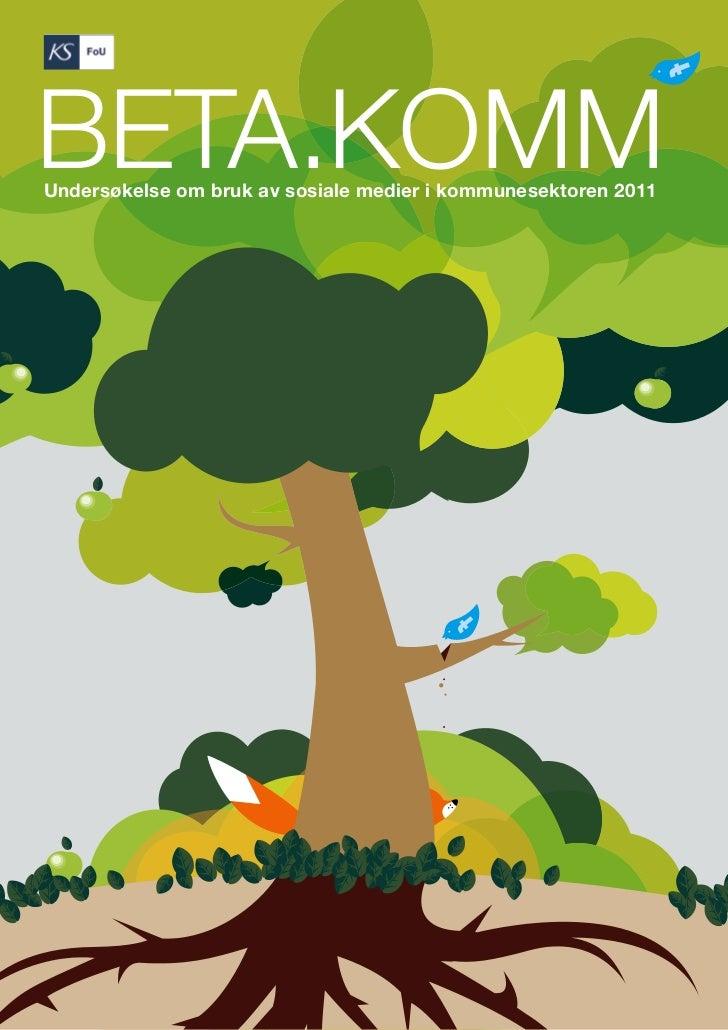 BETA.KOMM - undersøkelse om sosiale medier i kommunesektoren