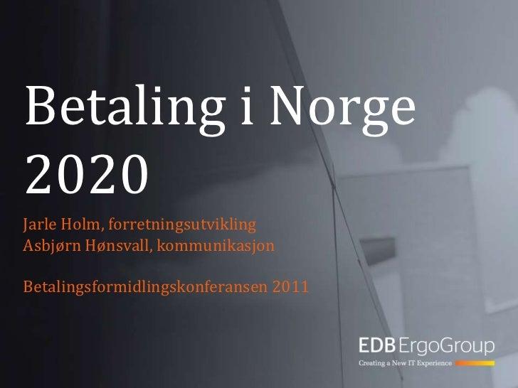 Betalingsformidling i Norge i 2020