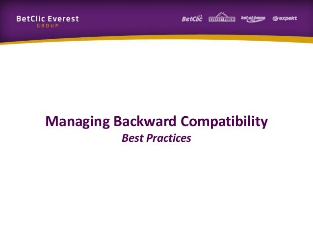 Managing Backward Compatibility Best Practices