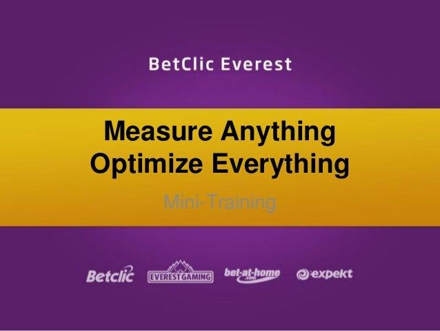 Measure Anything Optimize Everything Mini-Training