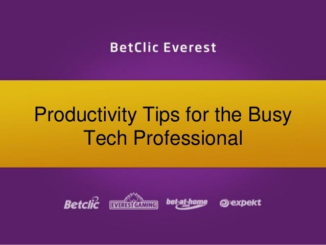 Productivity Tips for the Busy Tech Professional