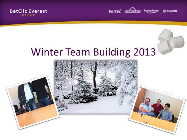 Winter Team Building 2013