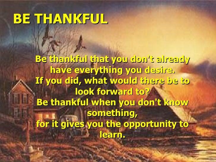 Be Thankful   Jrs