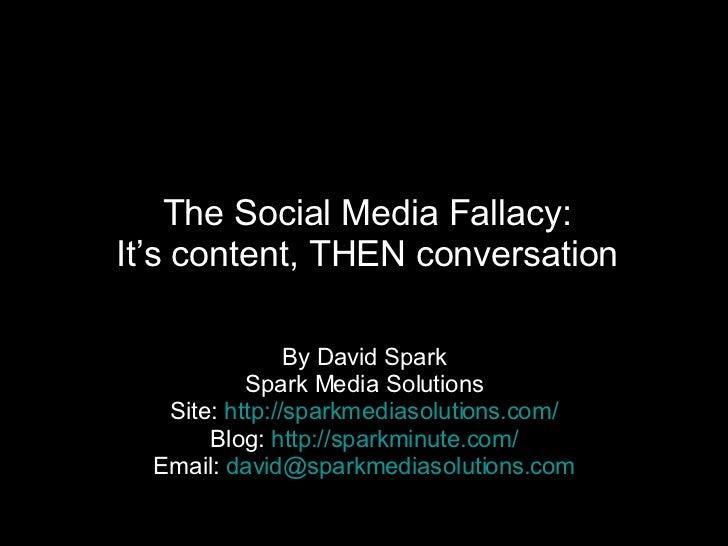 The Social Media Fallacy