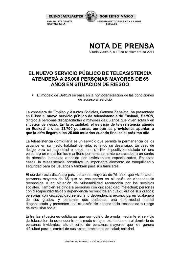 Betion teleasistencia nota_prensa